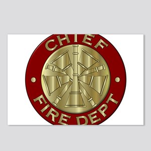 Fire chief brass sybol Postcards (Package of 8)