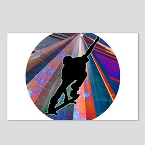 Skateboard on a Building Postcards (Package of 8)
