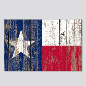 barn wood Texas Flag Postcards (Package of 8)
