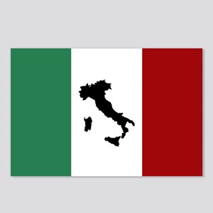 Italian Flag & Boot Postcards (Package of 8)