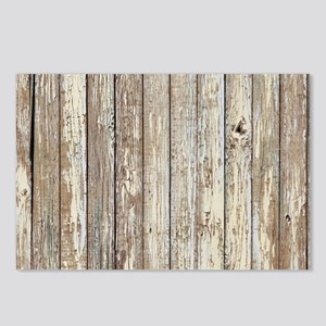 shabby chic white barn wo Postcards (Package of 8)