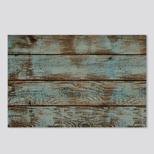 rustic western turquoise Postcards (Package of 8)