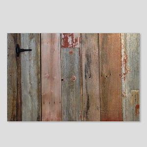 rustic western barn wood Postcards (Package of 8)
