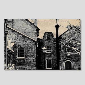 vintage church street lig Postcards (Package of 8)