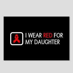 Red Ribbon: Red for my Da Postcards (Package of 8)