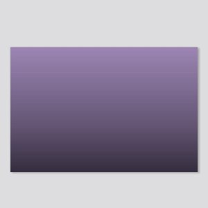 black purple ombre Postcards (Package of 8)