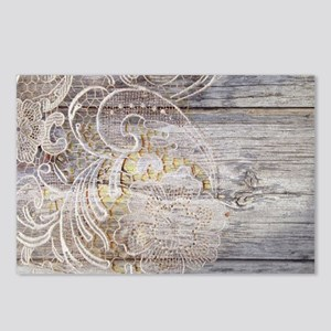 barn wood lace western co Postcards (Package of 8)