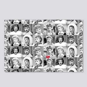 I Love Lucy Face Collage Postcards (Package of 8)