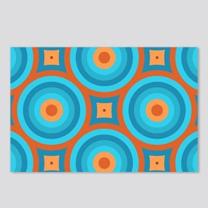 Orange and Blue Mid Century Modern Postcards (Pack
