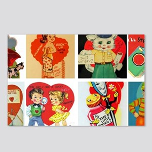 vintage valentines day ca Postcards (Package of 8)