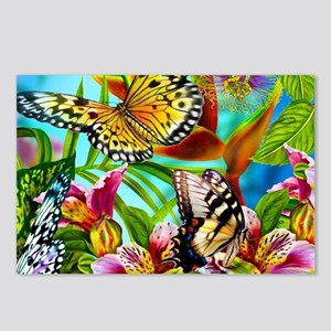 Beautiful Butterflies And Flowers Postcards (Packa