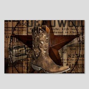 western cowboy Postcards (Package of 8)