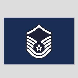 USAF: MSgt E-7 (Blue) Postcards (Package of 8)