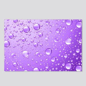 Metallic Purple Abstract Postcards (Package of 8)