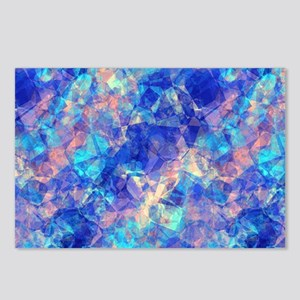 Azure Blue Crumpled Patte Postcards (Package of 8)