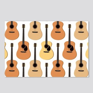 Acoustic Guitars Pattern Postcards (Package of 8)