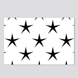 White and Black Star Patt Postcards (Package of 8)