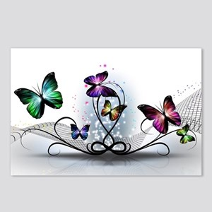 Colorful Butterflies Postcards (Package of 8)
