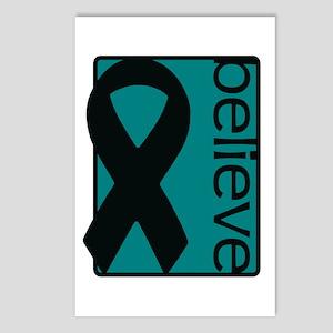 Teal (Believe) Ribbon Postcards (Package of 8)