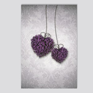 Purple Hearts Postcards (Package of 8)