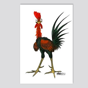 Crazy Rooster Postcards (package Of 8)
