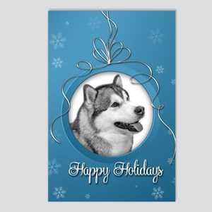 Elegant Malamute Postcards (Package of 8)