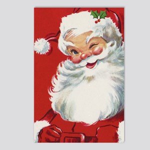 Vintage Christmas Jolly S Postcards (Package of 8)