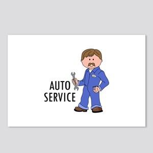 AUTO SERVICE Postcards (Package of 8)