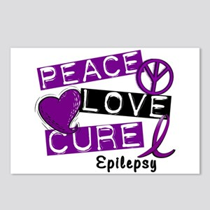 PEACE LOVE CURE Epilepsy (L1) Postcards (Package o