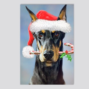 Doberman Christmas Postcards (Package of 8)