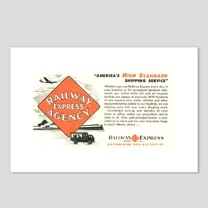 Railway Express Agency 1948 Postcards (Package of