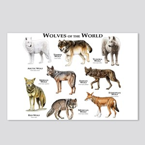 Wolves of the World Postcards (Package of 8)