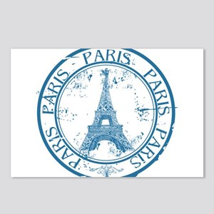 Paris travel stamp Postcards (Package of 8)