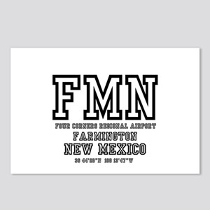 AIRPORT CODES - FMN - FAR Postcards (Package of 8)