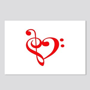 TREBLE MUSIC HEART Postcards (Package of 8)