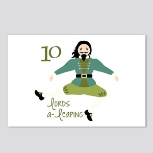 10 loRDS a- leaPiNG Postcards (Package of 8)