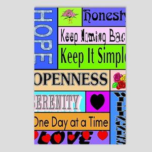 12 step sayings Postcards (Package of 8)