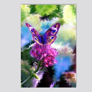 Colorful Abstract Butterf Postcards (Package of 8)