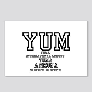 AIRPORT CODES - YUM - YUM Postcards (Package of 8)