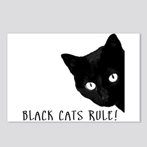BLACK CATS RULE Postcards (Package of 8)