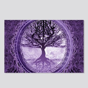 Tree of Life in Purple Postcards (Package of 8)