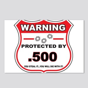 protected by 500 shield Postcards (Package of 8)