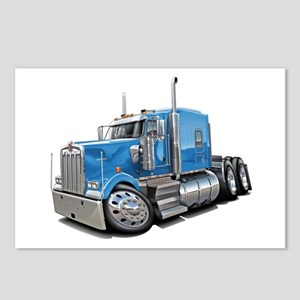 Kenworth W900 Lt Blue Truck Postcards (Package of