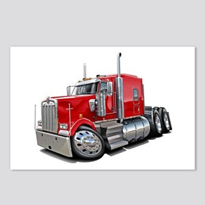 Kenworth W900 Red Truck Postcards (Package of 8)
