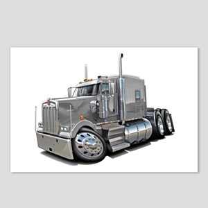 Kenworth W900 Silver Truck Postcards (Package of 8