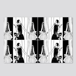 1920s flapper 2 Postcards (Package of 8)