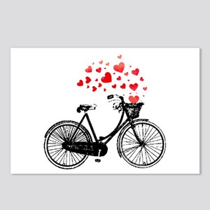 Vintage Bike with Hearts Postcards (Package of 8)