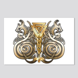Norse Valknut Dragons Postcards (Package of 8)