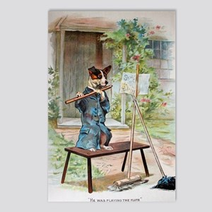 He Was Playing The Flute Postcards (Package of 8)