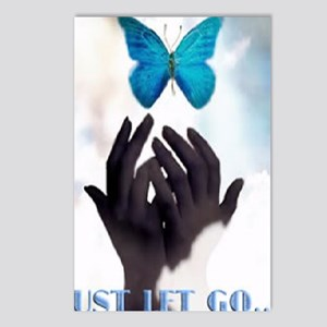 JUST LET GO Postcards (Package of 8)